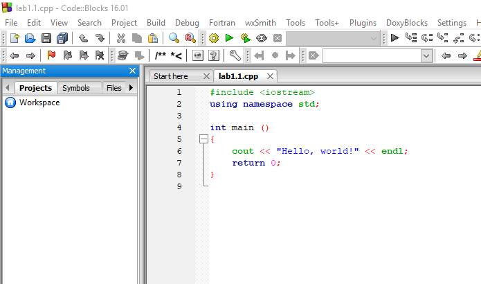 Lab #1  Working with IDE Code::Blocks Software is typically